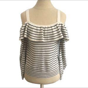 BOGO50%! Cold Shoulder Sweater Striped Joie Sz XXS